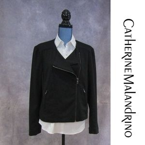 Catherine Maladrino Runway Style Black Moto Jacket